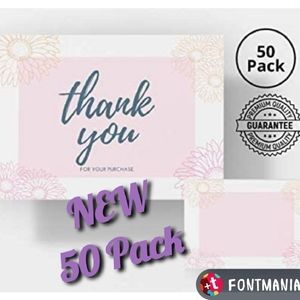 50  Thank You For Your Purchase Insert Cards